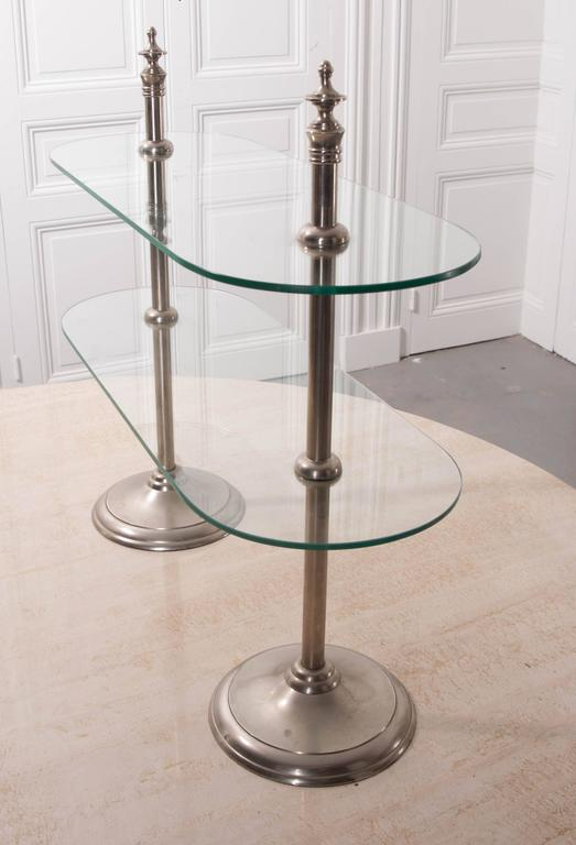French Vintage Two Tiered Display Stand At 1stdibs