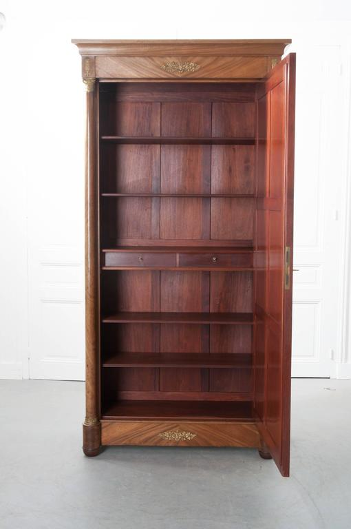 French 19th Century Mahogany Empire Armoire For Sale At