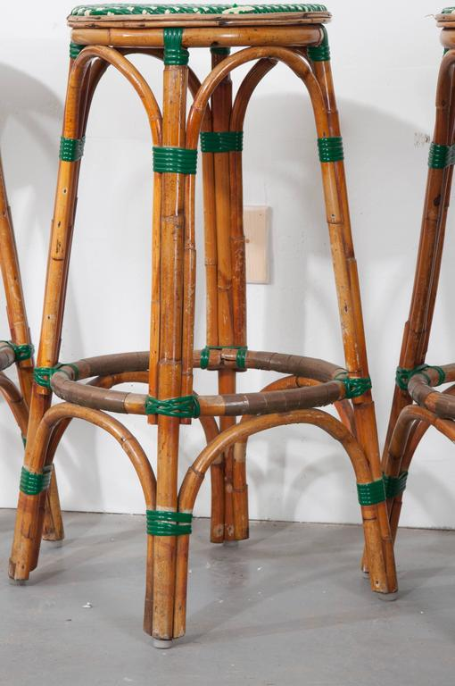 Set Of Four French Bistro Bar Stools For Sale At 1stdibs