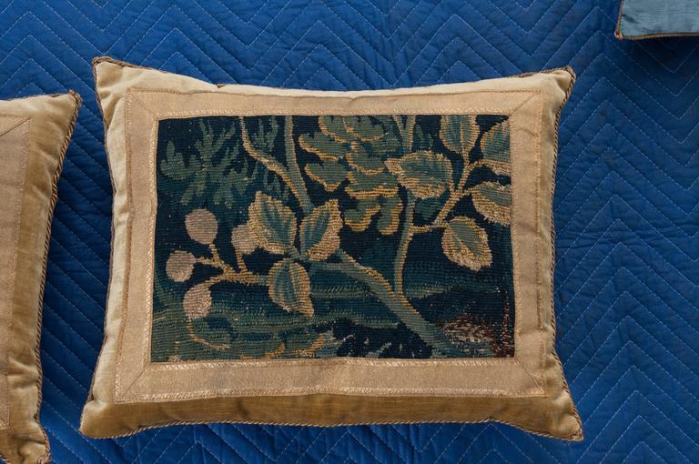 18th Century and Earlier Antique Textile Pillows by B.Viz Designs For Sale