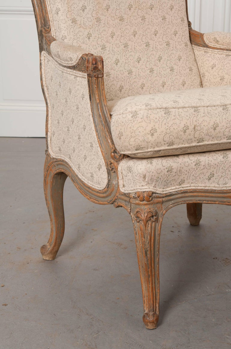 Pair of 19th Century French Louis XV Bergères For Sale 3