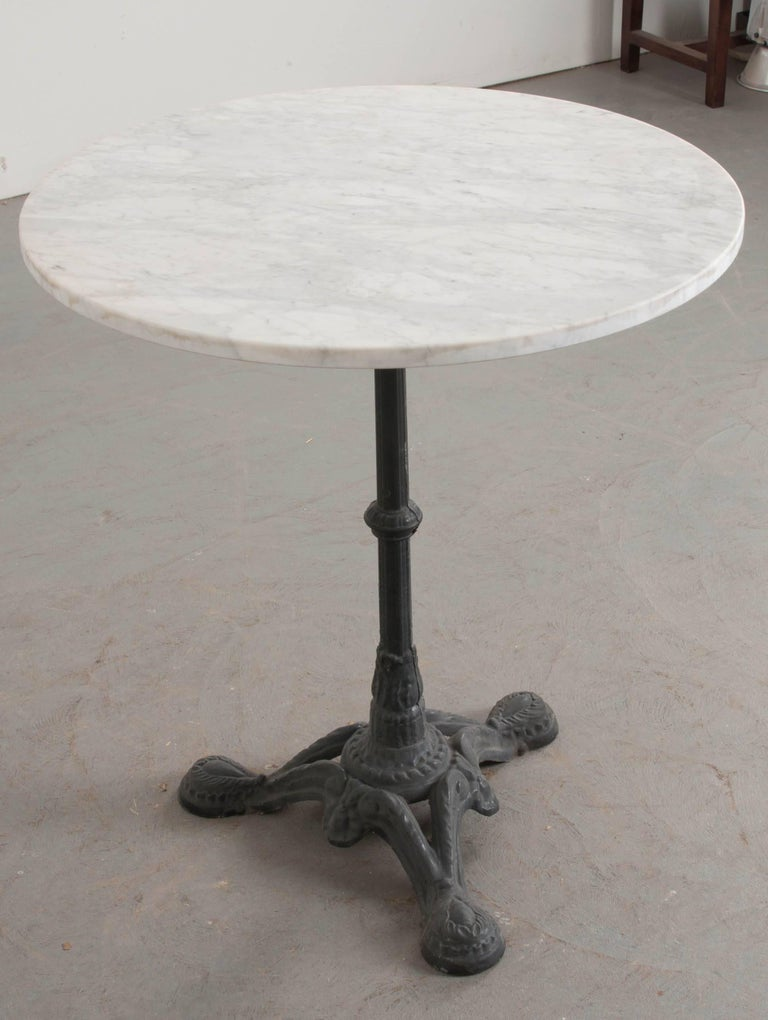 French 1920s Iron And Marble Bistro Table At 1stdibs