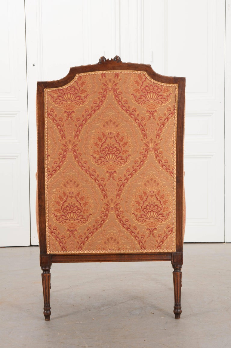 French 19th Century Louis XVI Upholstered Bergère For Sale 5