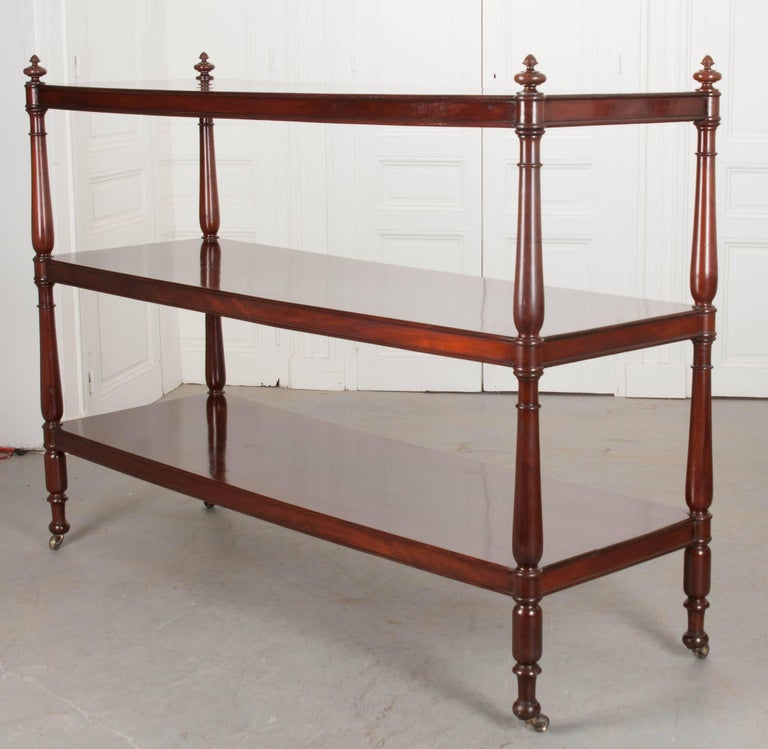 Massive 19th Century English Mahogany Trolley For Sale 3