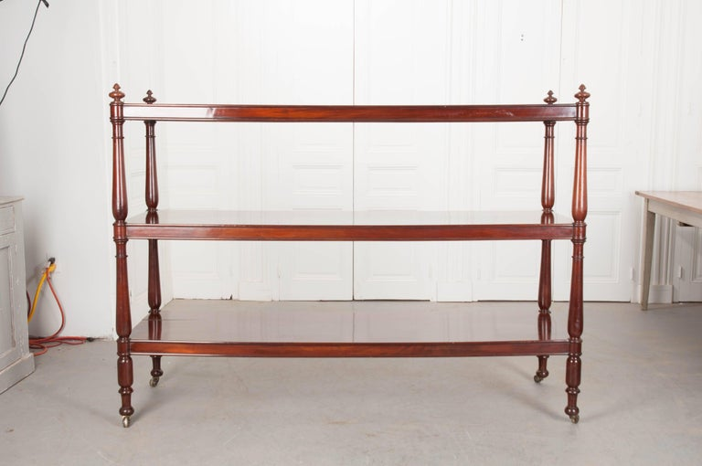 Massive 19th Century English Mahogany Trolley For Sale 7