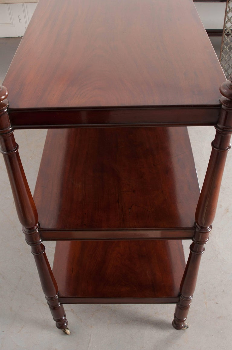 Massive 19th Century English Mahogany Trolley For Sale 2