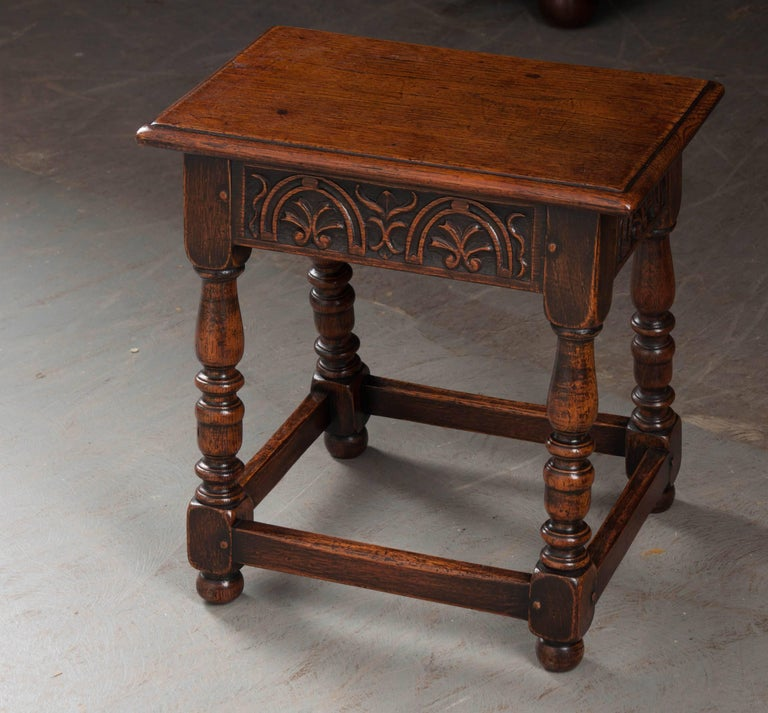English 19th Century Oak Joint Stool For Sale 1