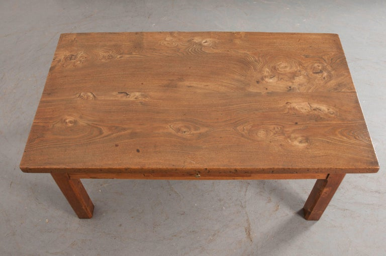 French Provincial French 19th Century Chestnut Coffee Table For Sale