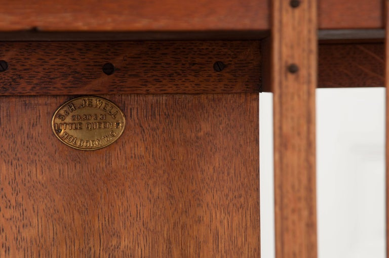 English 19th Century Oak Revolving Bookcase by S & H Jewell For Sale 1