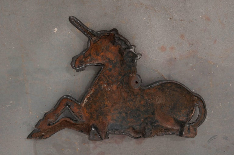 English 19th Century Cast Iron Unicorn For Sale 4
