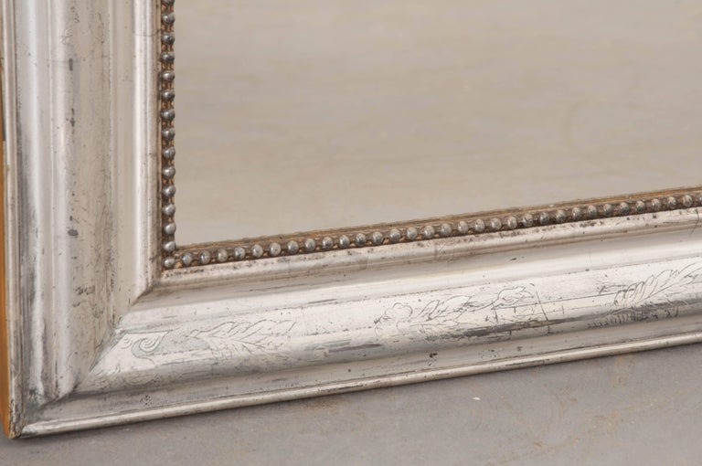 French 19th Century Silver Gilt Louis Philippe Mirror For Sale 1