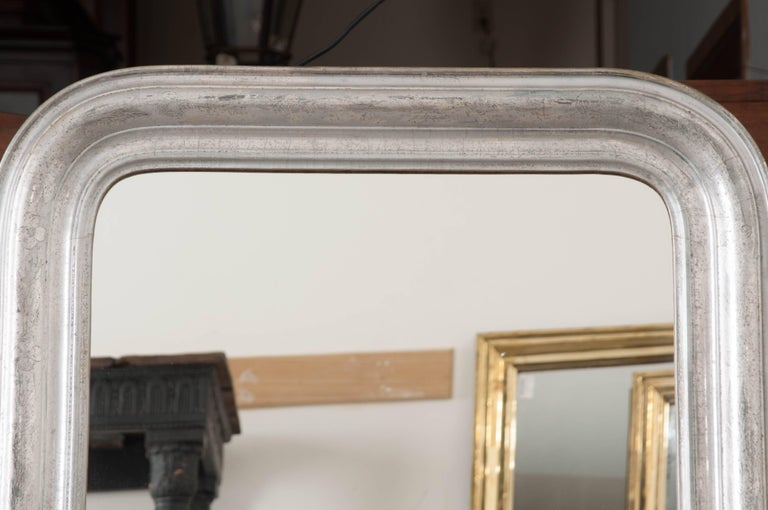 French 19th Century Silver Gilt Louis Philippe Mirror In Good Condition For Sale In Baton Rouge, LA
