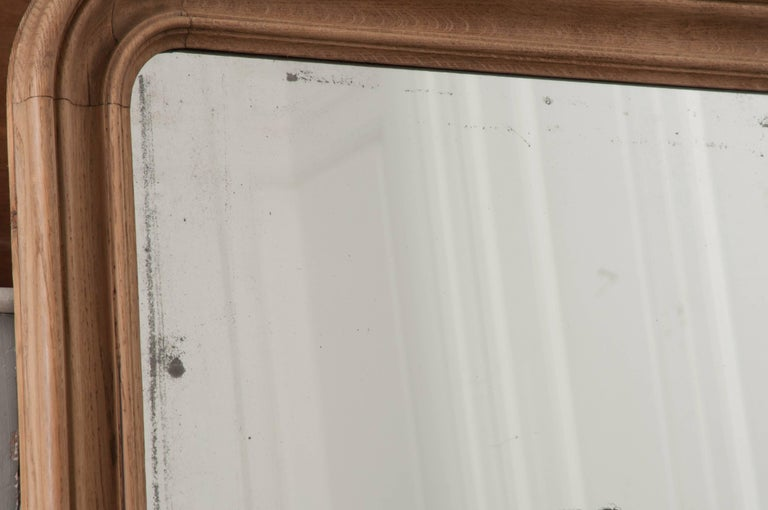 French 19th Century Bleached Oak Louis Philippe Mirror For Sale 3
