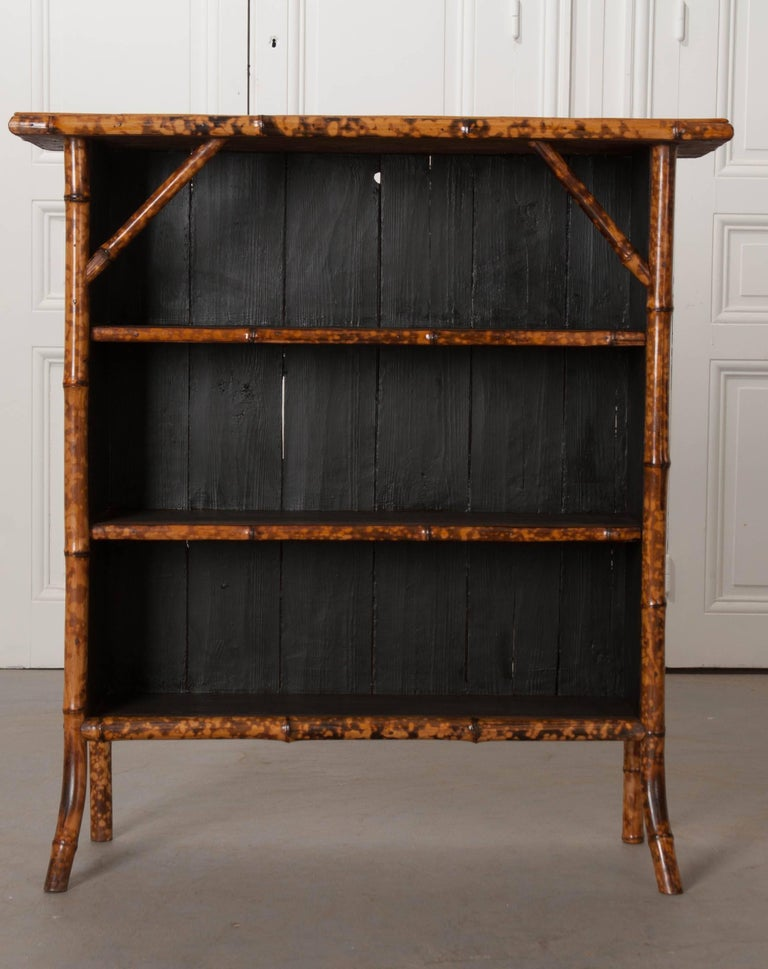 A Smart English Bamboo Bookshelf From The 1890s That Has Been Recently Refinished Where