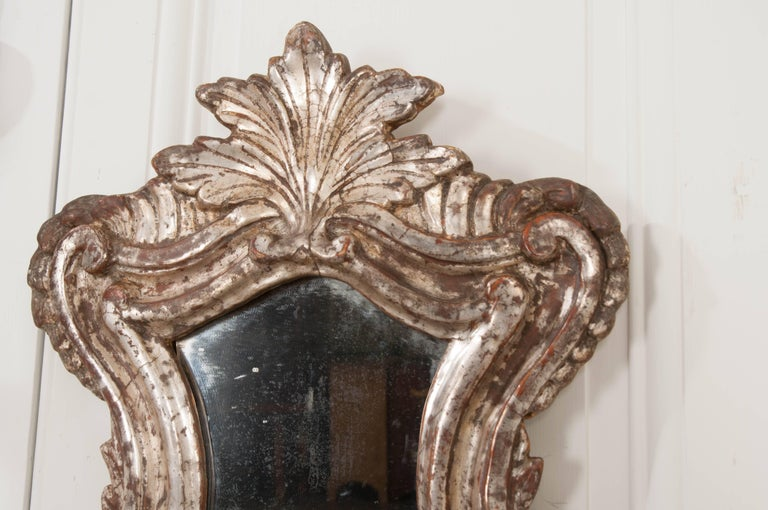 Pair of 18th Century Italian Silver Gilt Venetian Sconces For Sale 1