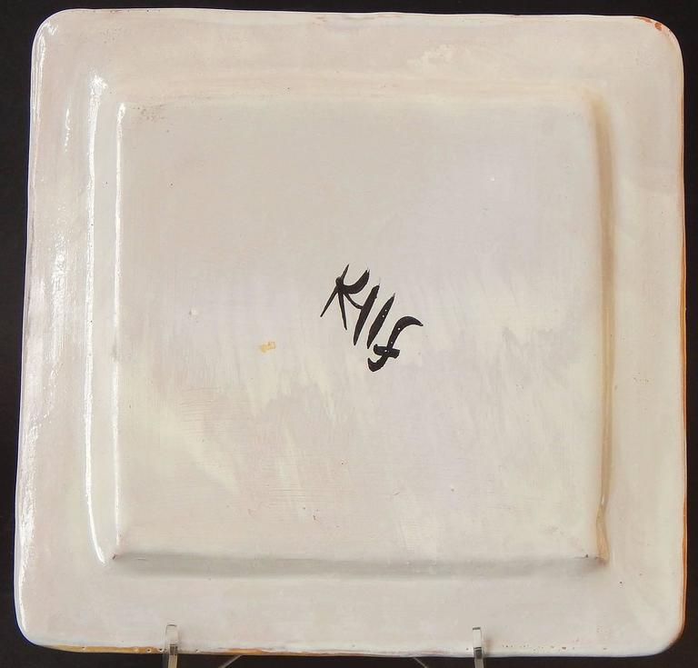 Art Deco Decorated Plates with Horses, Italian, Late 1920s In Excellent Condition For Sale In Philadelphia, PA