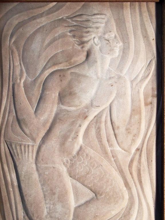 Quot Merman Quot Very Fine Art Deco Bas Relief Sculpture In