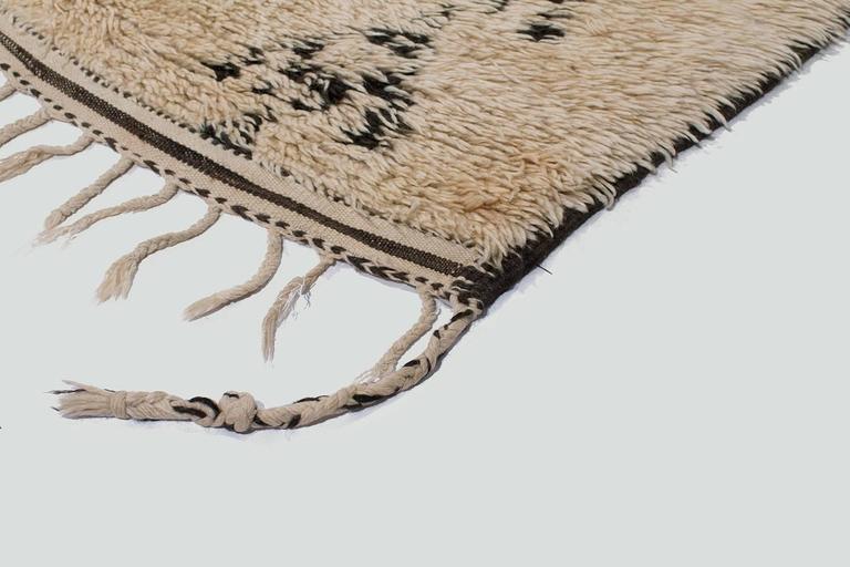 Hand-Woven Vintage Beni Alaham Moroccan Rug For Sale