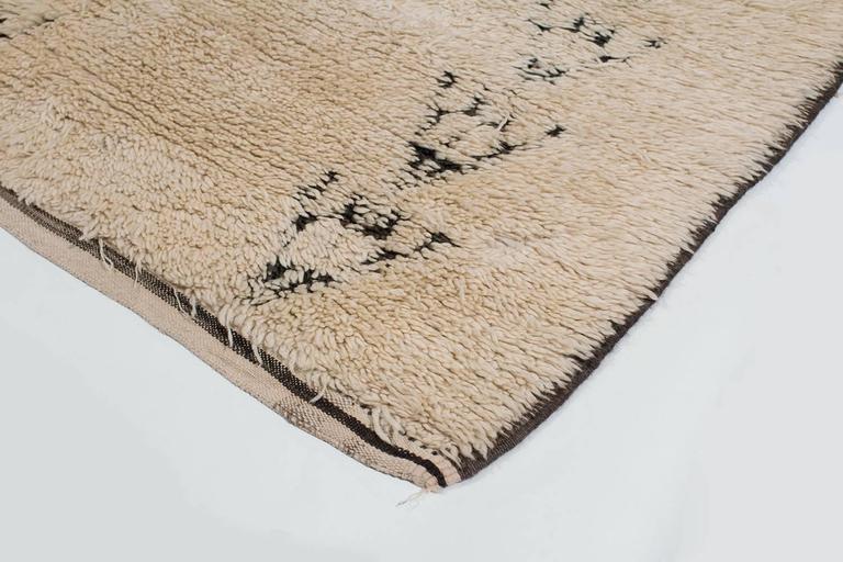 Tribal Vintage Beni Alaham Moroccan Rug For Sale
