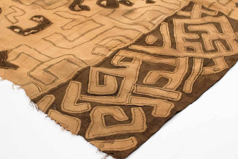 Congolese African Tribal Kuba Dance Cloth From Congo For Sale