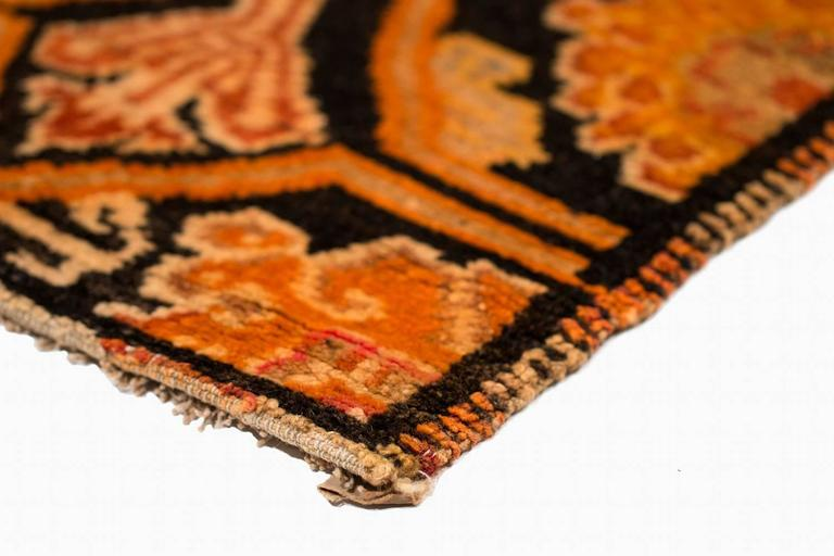 Mid-20th Century Antique Tibetan Art Deco Rug For Sale