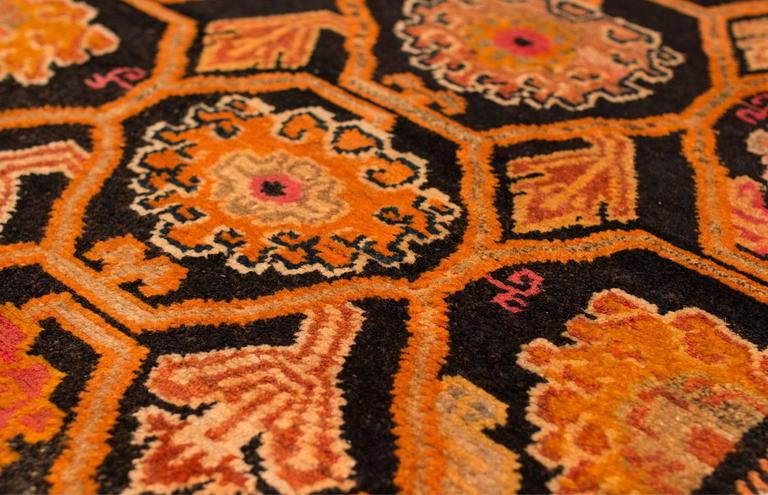 Antique Tibetan Art Deco Rug In Excellent Condition For Sale In New York, NY