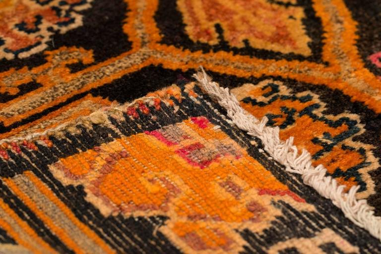 Wool Antique Tibetan Art Deco Rug For Sale