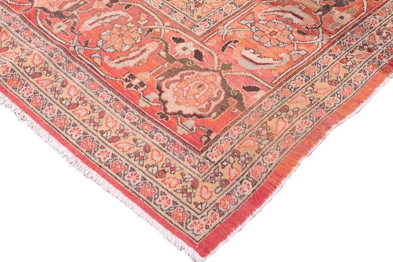 Antique Tabriz Handwoven Wool Rug 3