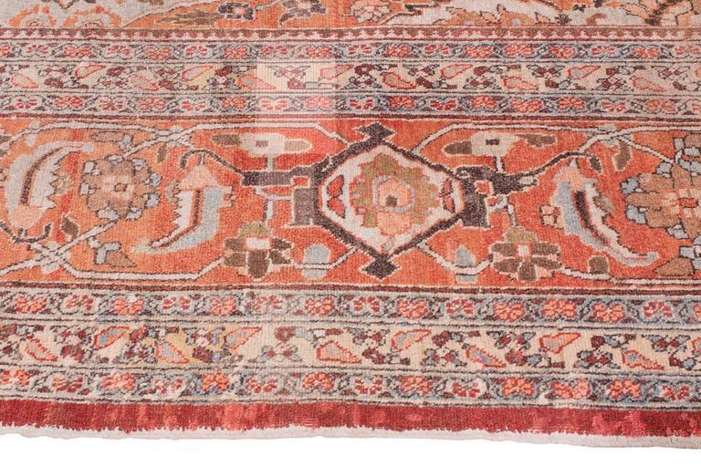 Antique Tabriz Handwoven Wool Rug 4