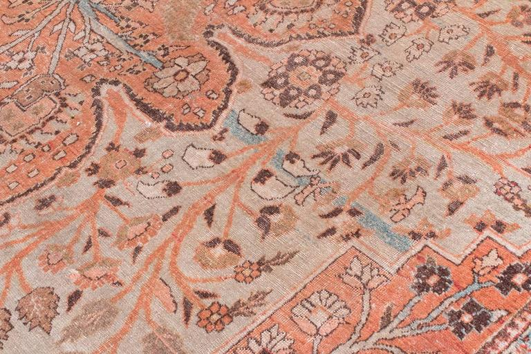 Antique Tabriz Handwoven Wool Rug 6
