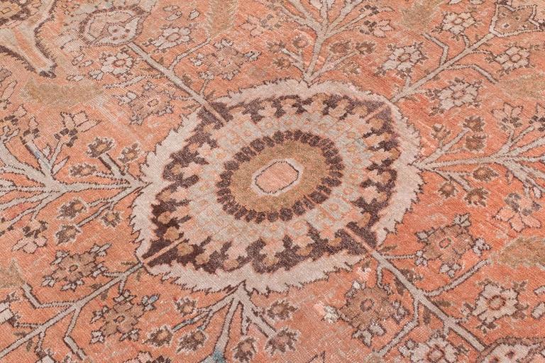 Antique Tabriz Handwoven Wool Rug 5