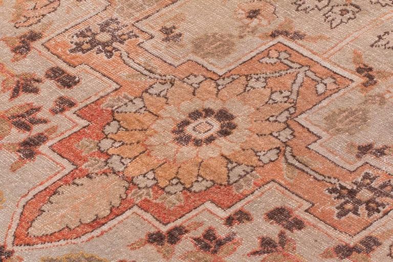 Antique Tabriz Handwoven Wool Rug 7