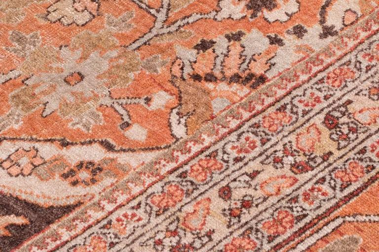 Antique Tabriz Handwoven Wool Rug 8