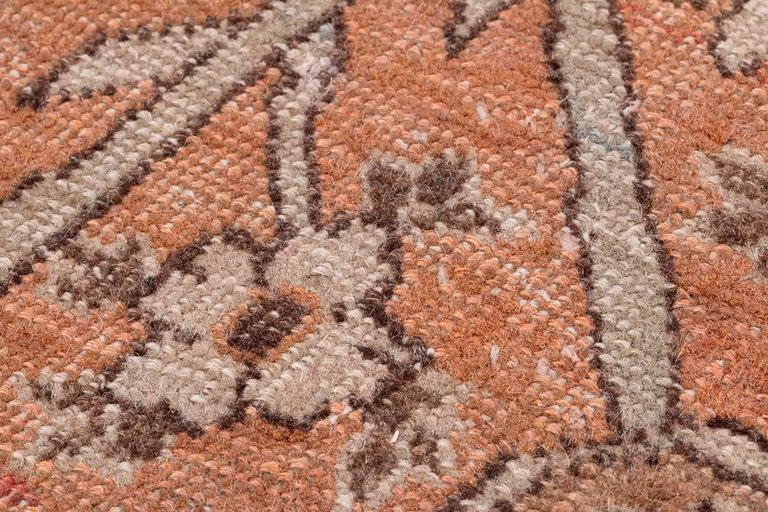 Antique Tabriz Handwoven Wool Rug 9
