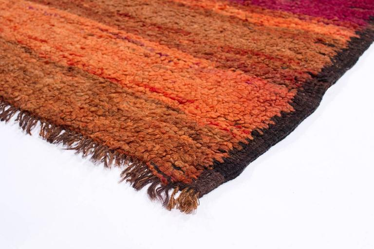 Vintage Red and Orange Rehamna Moroccan Rug 9