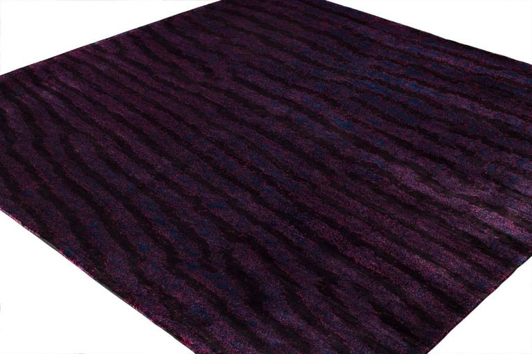 Deep purple area rug with fish skin print for sale at 1stdibs for Fish area rug