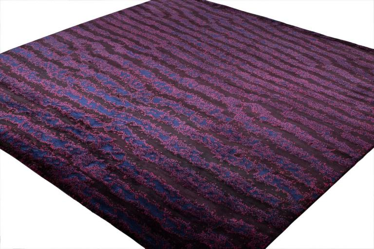 Deep Purple Area Rug With Fish Skin Print For Sale At 1stdibs