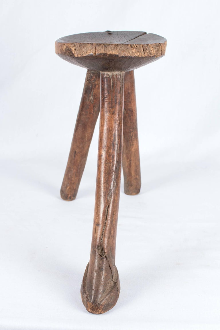 3 Legged Wooden Stool ~ Three legged wooden lobi stool for sale at stdibs