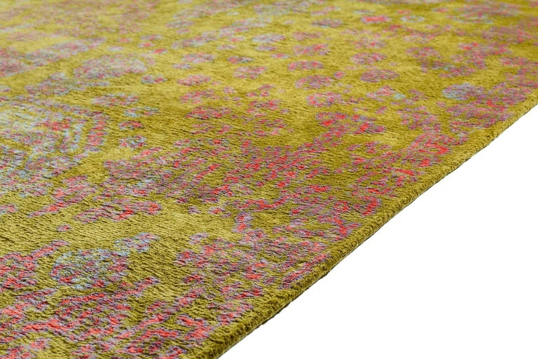 Contemporary Silk Rug By Carini 10x14 In Excellent Condition For Sale In New York, NY