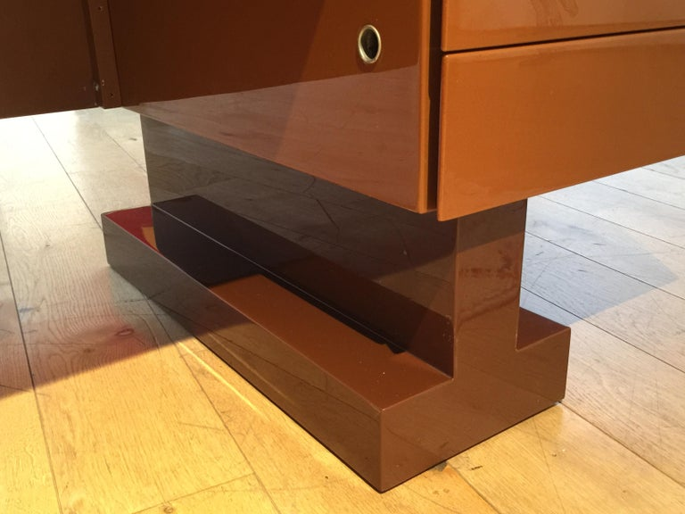 French Lacquer Desk by Pierre Cardin For Sale 3