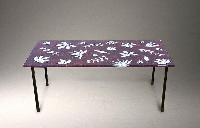 1950s italian glass coffee table designedmeyer for sale at 1stdibs