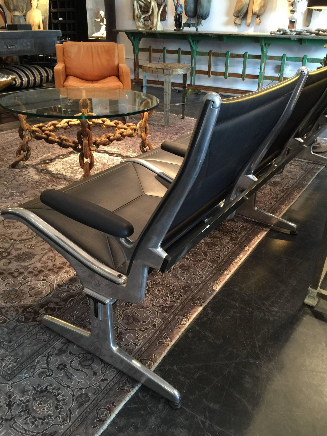 Vintage Herman Miller Airport Bench At 1stdibs