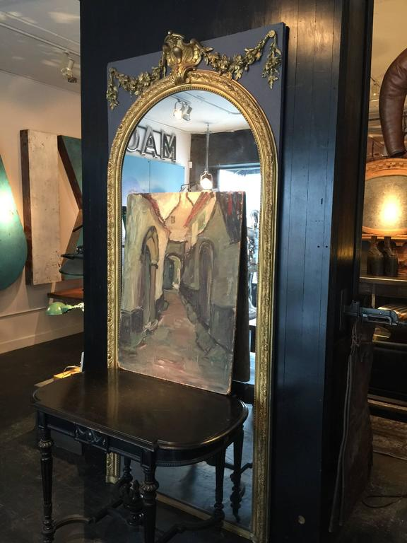 Early 1900s French Mirror Panel At 1stdibs