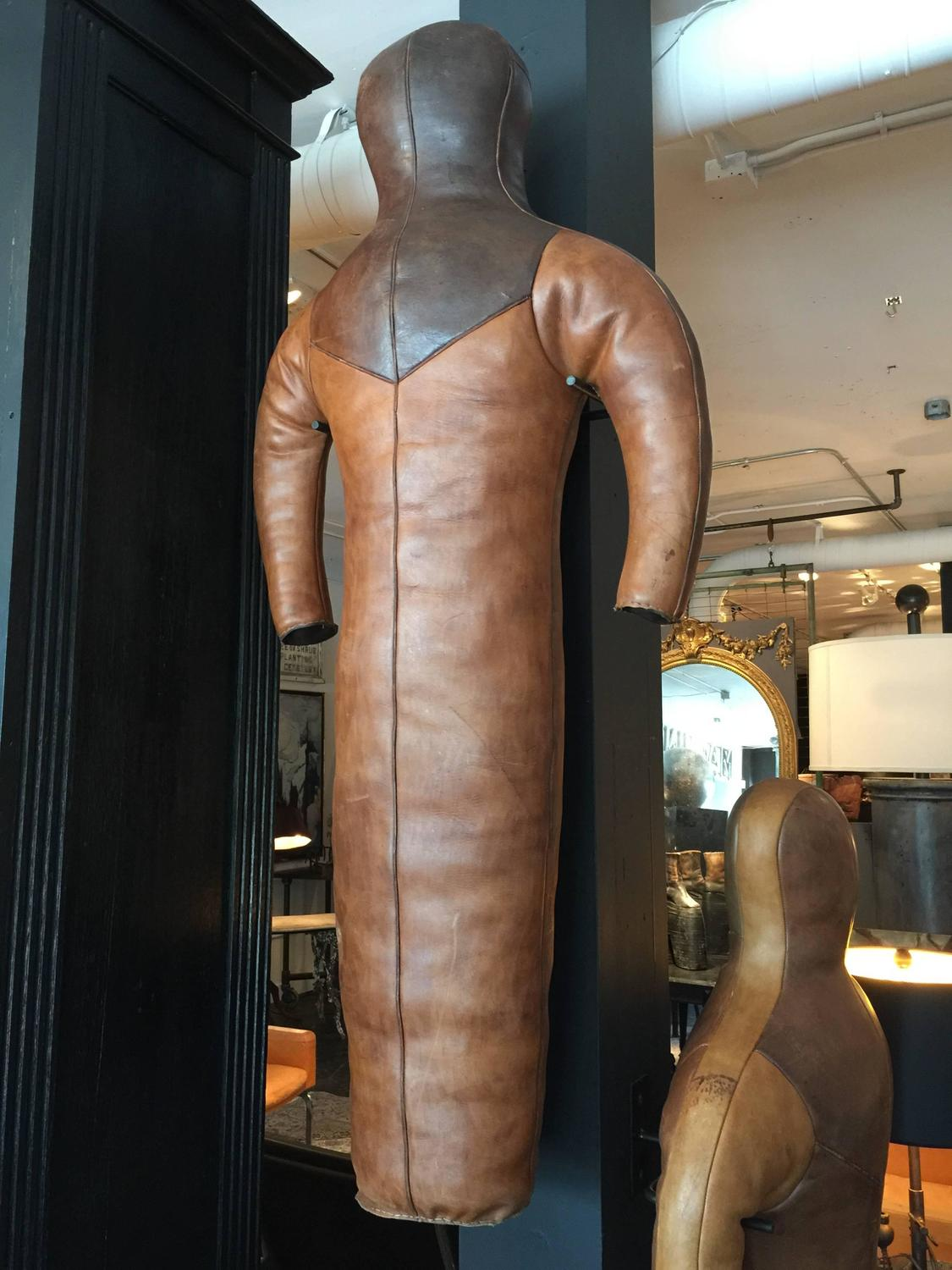Wall Mounted European Wrestling Dummy At 1stdibs