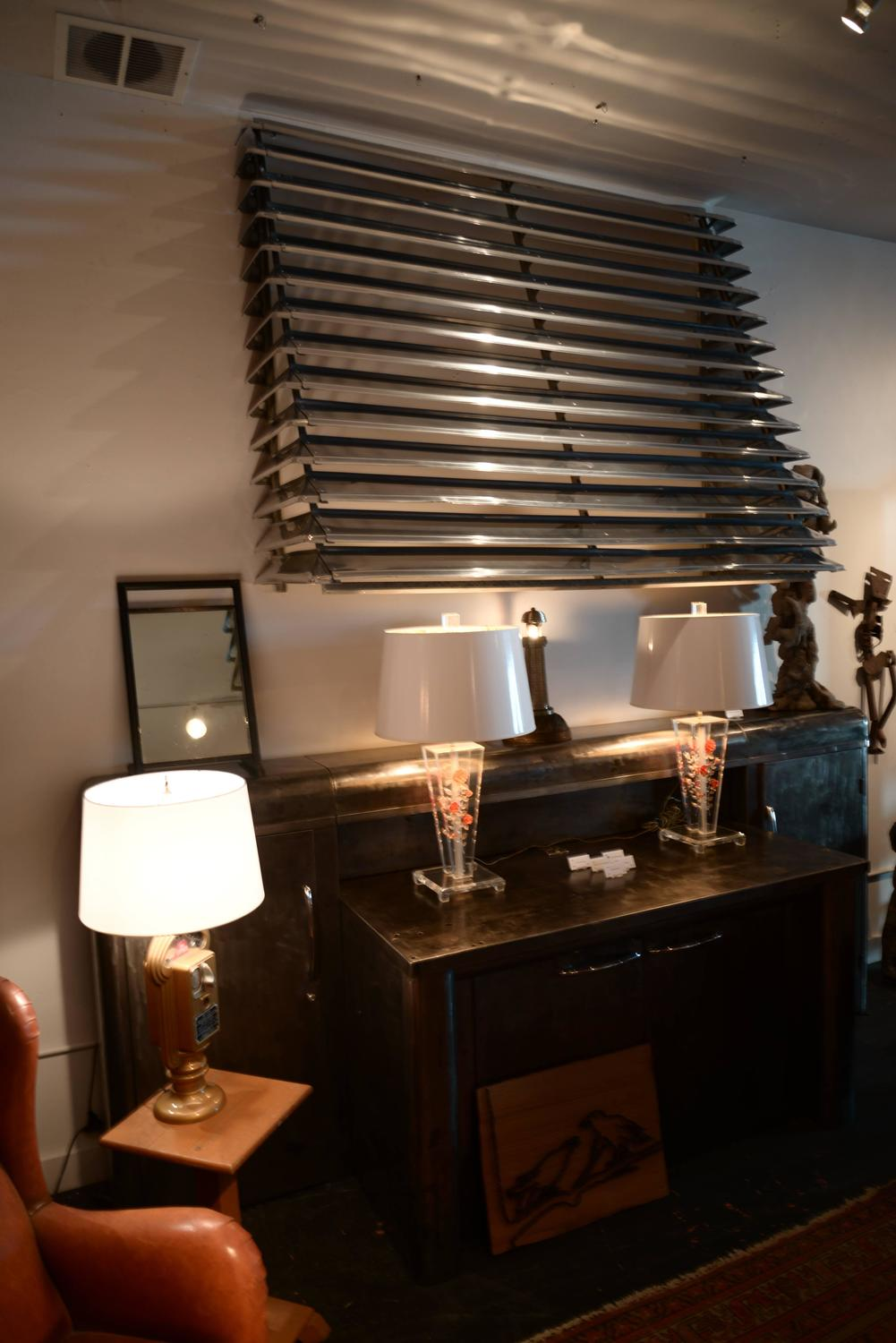 Pair Of Vintage Aluminum Awnings For Sale At 1stdibs