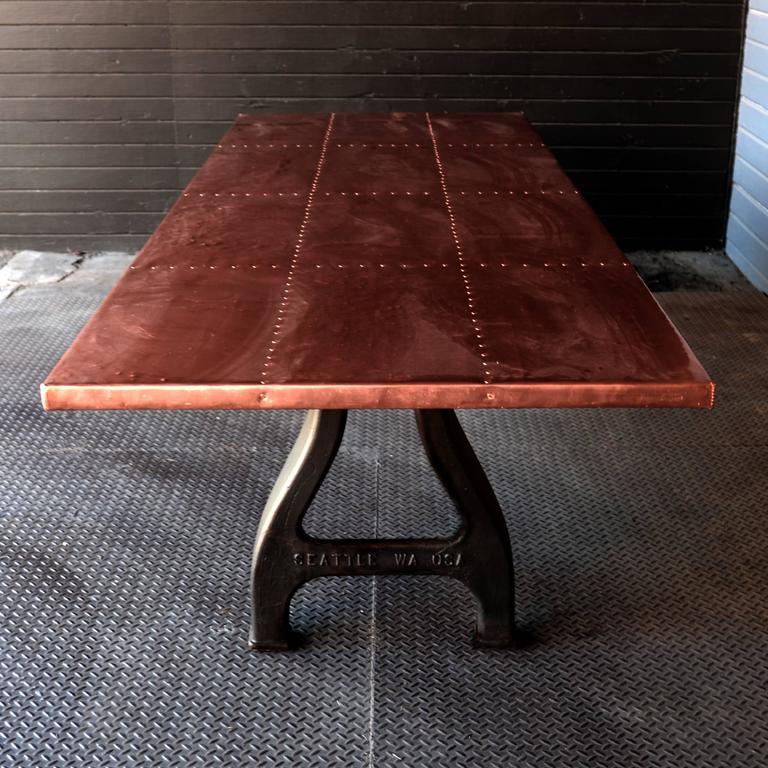 Copper Dining Room Table: Copper Clad Dining Table For Sale At 1stdibs