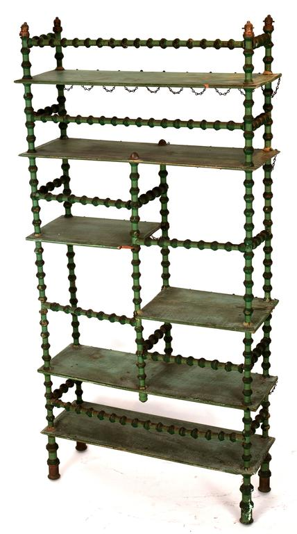 Ornate Spool Shelving Unit In Good Condition For Sale In Seattle, WA