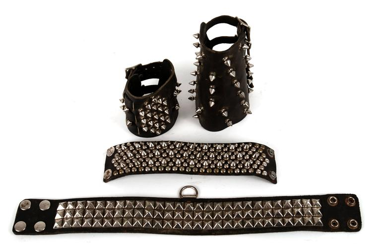American Studded Leather Accessories For Sale