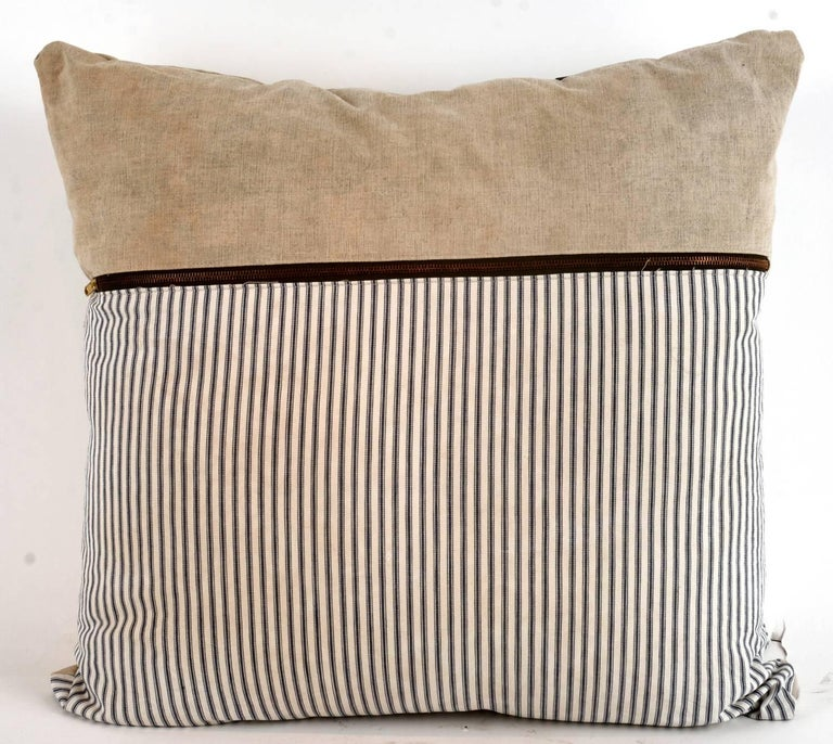 These pillows have a perfectly relaxed look including expected wear and tear to the vintage material. This is intentional and we believe it adds to the beauty and unique character of pillow .
