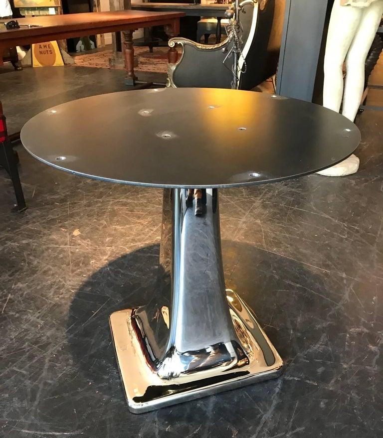 American Solid Cast Bronze Pedestal Table Base For Sale